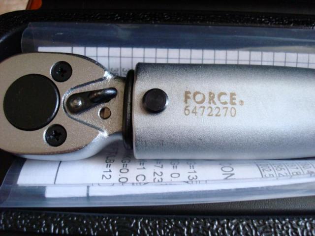 Ключ динамометрический force инструкция