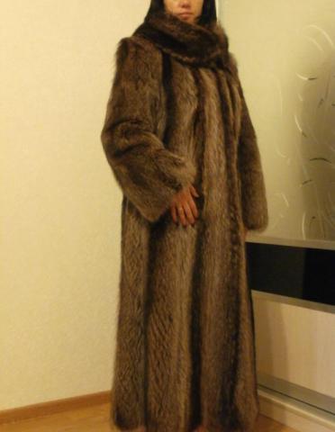 фото шуба енотовая